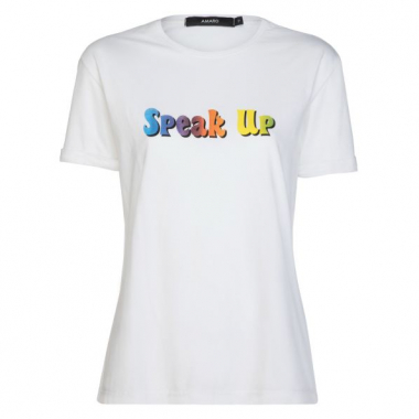 Amaro Feminino T-Shirt Speak Up, Branco