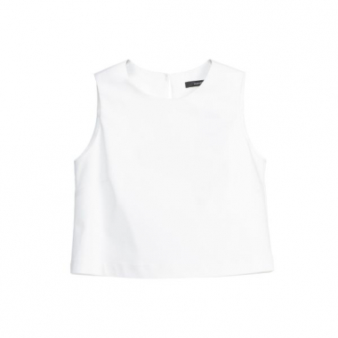 Amaro Feminino Top Cropped Double, Branco
