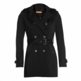 AMARO Feminino TRENCH COAT LONDON BREEZE, PRETO