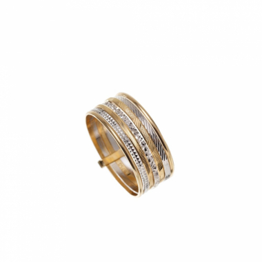 Anel Ouro 18K, Listras