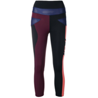Angelys Balek Legging Capri Color Block - Preto