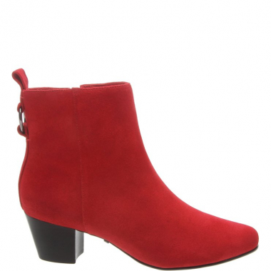 Ankle Boot Camurcina Salto Bloco Baixo Royal Red | Arezzo