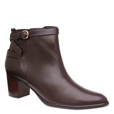 Ankle Boot Couro Brown