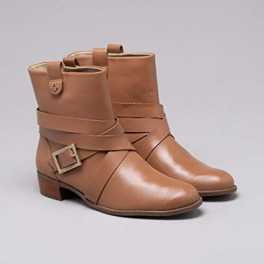 Ankle Boot Couro Cinamon 35