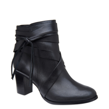 Ankle Boot Couro & Tiras