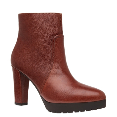 Ankle Boot Grunge Couro