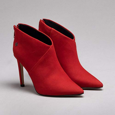 Ankle Boot Nobuck Rosso 39