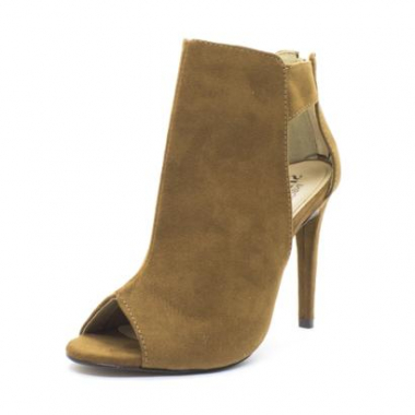 Ankle Boot Shoes Inbox Open Boots Cut Out Feminina-Feminino