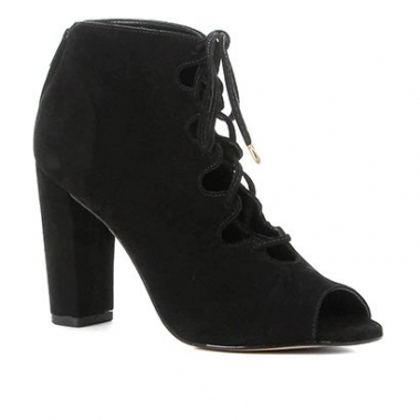 Ankle Boot Shoestock Nobuck Lace Up-Feminino