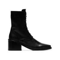 Ann Demeulemeester Ankle Boot De Couro - Preto