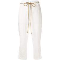 Ann Demeulemeester Calça Com Recortes Na Lateral - Branco