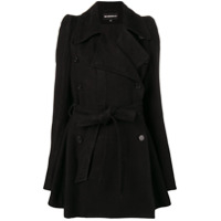 Ann Demeulemeester Trench Coat Com Cinto - Preto
