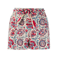 Antik Batik Short Com Estampa Floral - Neutro