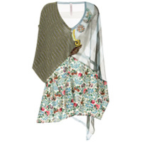 Antonio Marras Poncho Com Patchwork - Estampado