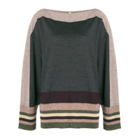 Antonio Marras Stripe Detail Sweater - Cinza