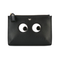 Anya Hindmarch Clutch 'eyes' De Couro - Preto