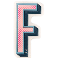 Anya Hindmarch Sticker 'f' De Couro - Estampado