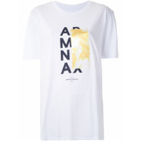 Armani Exchange T-Shirt Boy Fit Com Estampa - Branco
