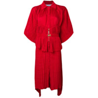 Atu Body Couture Belted Shirt Dress - Vermelho