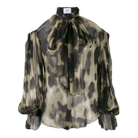Atu Body Couture Blusa Animal Print - Preto