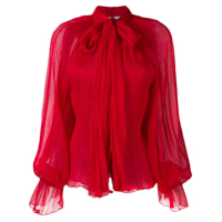 Atu Body Couture Floaty Pussy Bow Blouse - Vermelho