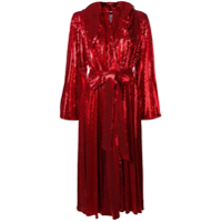 Atu Body Couture Hooded Sequin Dress - Vermelho