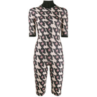 Atu Body Couture Macaquinho Com Padronagem Animal Print - Neutro