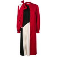 Atu Body Couture Pleated Panel Midi Dress - Vermelho