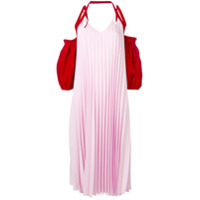 Atu Body Couture Vestido Com Pregas Color Block - Rosa