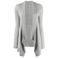 Autumn Cashmere Asymmetric Ribbed Knit Cardigan - Cinza
