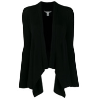 Autumn Cashmere Ribbed Knit Asymmetric Cardigan - Preto