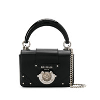 Balmain Logo Plaque Crossbody Bag - Preto