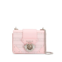 Balmain Logo Plaque Crossbody Bag - Rosa