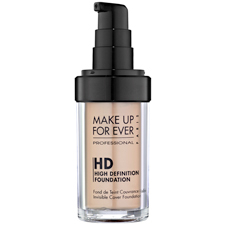 Base HD Invisible Cover Foundation 185 - Ebony de MAKE UP FOR EVER