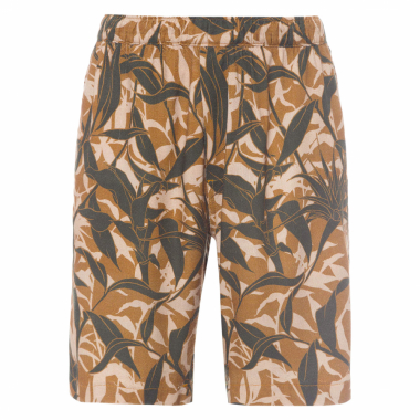 BERMUDA MASCULINA ESTAMPA CAMUFLADO TROPICAL - MARROM