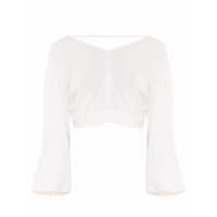 Bianza Top Cropped Manga Pirata - Off White
