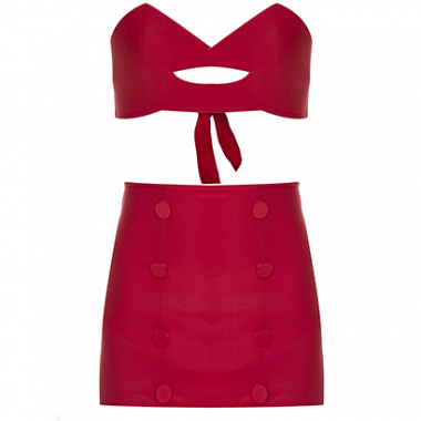 Biquíni Pin Up Hot Pants Mouth Vermelho Charlotte Olympia X Adriana Degreas