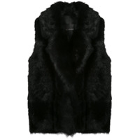 Blancha Oversized Sleeveless Jacket - Preto