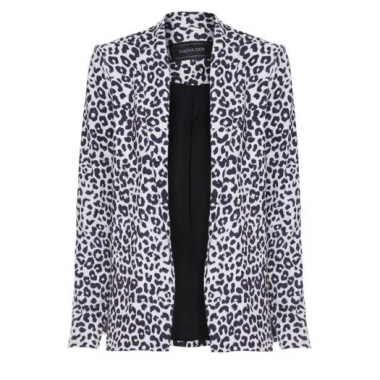 Blazer Estampado Shoulder - Animal Print