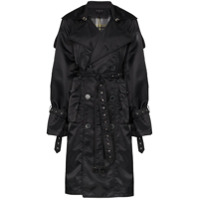Blindness Trench Coat Oversized - Preto