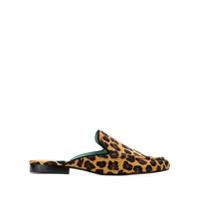 Blue Bird Shoes Slipper De Pelo Animal Print - Estampado