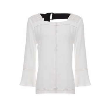 Blusa Crepe Shoulder - Off White