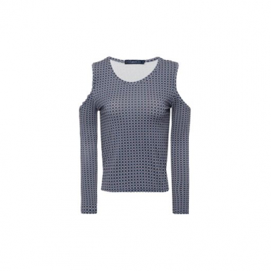 Blusa Cropped Tie Vi And Co. - Azul