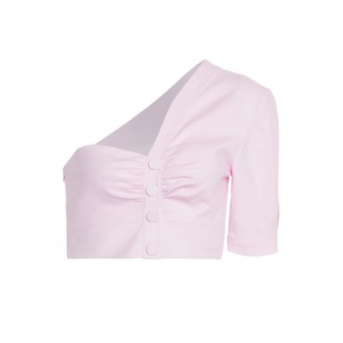 Blusa Cropped Um Ombro So Cotton Iorane Nxt Lvl - Rosa