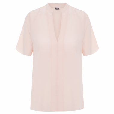 Blusa Feminina Cropped Sleeve New Shirt - Nude