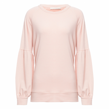 Blusa Feminina De Moletom Neutro Color - Nude