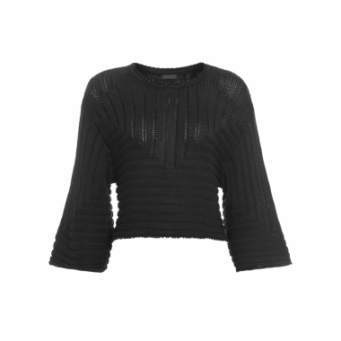 Blusa Feminina Knit Graphic - Preto