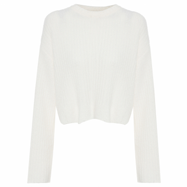 Blusa Feminina Tricot Crush - Off White