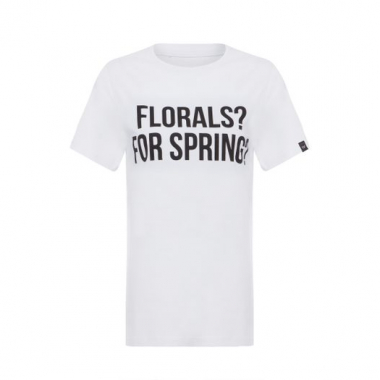 Blusa Florals For Spring T-Shirt Factory - Branco