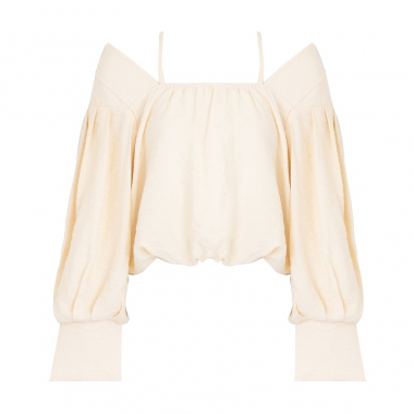 Blusa Franzido Off White Lilly Sarti